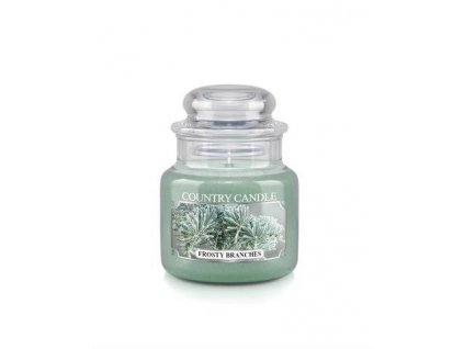 Country Candle small jar frosty branches