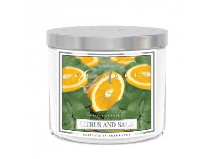 Kringle Candle Tumbler citrus sage