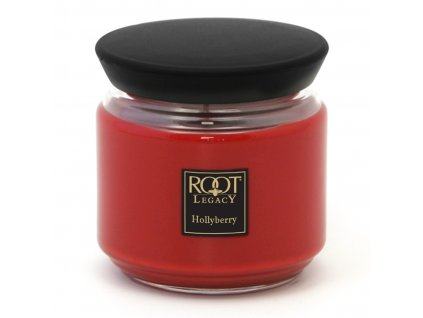 ROOT CANDLES Queen Bee medium Hollyberry