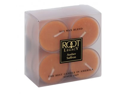ROOT CANDLES Tea Lights Amber Saffron