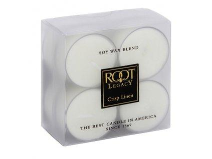 ROOT CANDLES Tea Lights Crisp Linen