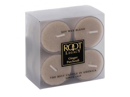 ROOT CANDLES Tea Lights Ginger Patchouli