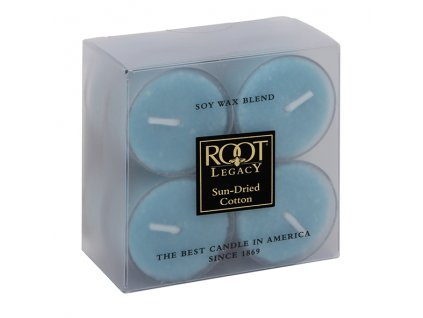 ROOT CANDLES Tea Lights Sun Dried Cotton