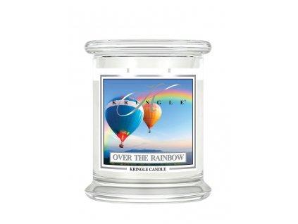 NEW kringle label 14.5oz medium jar over the rainbow 3x3.5