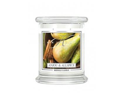 NEW kringle label 14.5oz medium jar anjou apllspice 3x3.5
