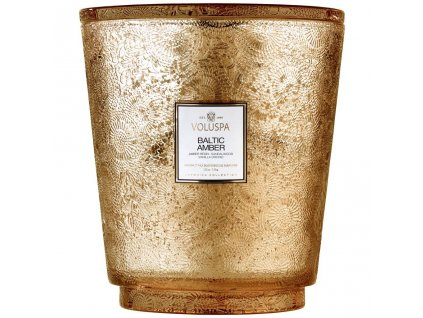 Voluspa Japonica BALTIC AMBER 123 oz Hearth Candle with Lid/Tray