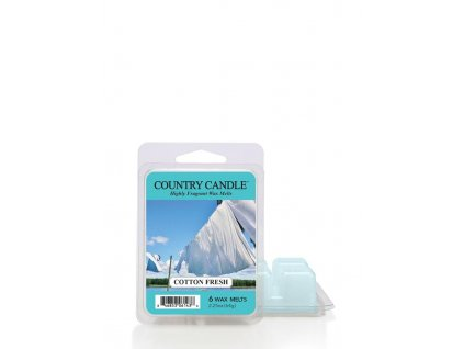COUNTRY CANDLE  Cotton Fresh vonný vosk (64 g)