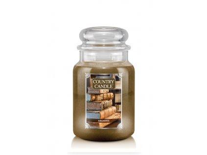 COUNTRY CANDLE Archives vonná sviečka veľká 2-knôtová (652 g)