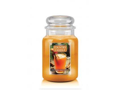 COUNTRY CANDLE Buttered Rum Toddy vonná sviečka veľká 2-knôtová (652 g)