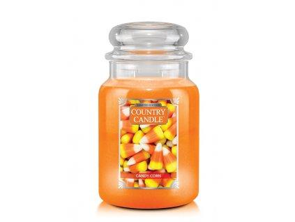 COUNTRY CANDLE Halloween Candy Corn vonná sviečka veľká 2-knôtová (652 g)