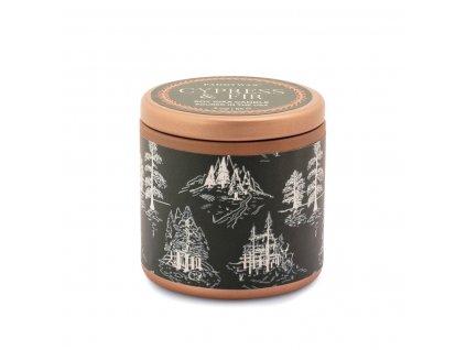 Paddywax Cypress & Fir 3 oz. vonná sviečka v plechovičke zelená 85g