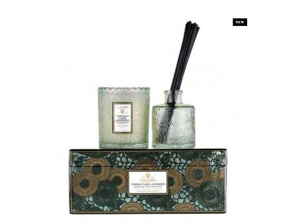72932 voluspa scalloped gift set french cade lavender sviecka difuzor