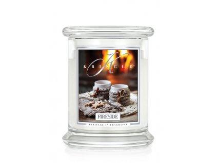 Kringle Candle FIRESIDE vonná sviečka stredná 2-knôtová (411 g)