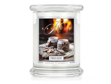 Kringle Candle FIRESIDE vonná sviečka malá 1-knôtová (240 g)