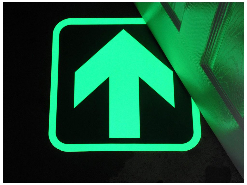 glow in the dark floor marker directional arrow afterglow