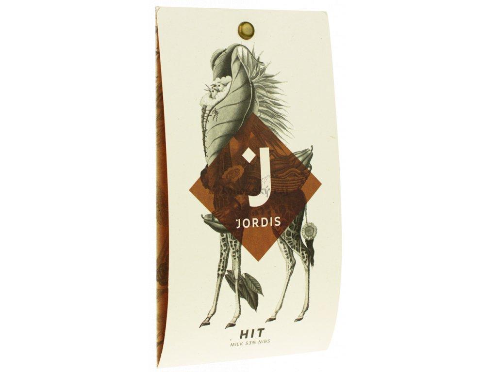 Jordis čokoláda - Cocoa Nibs mléčná 45%