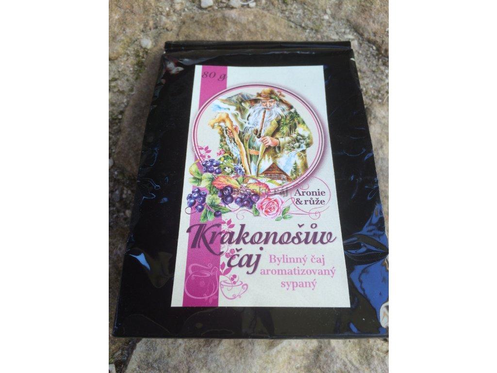 Krakonošův sypaný čaj Aronie&Růže, 80g