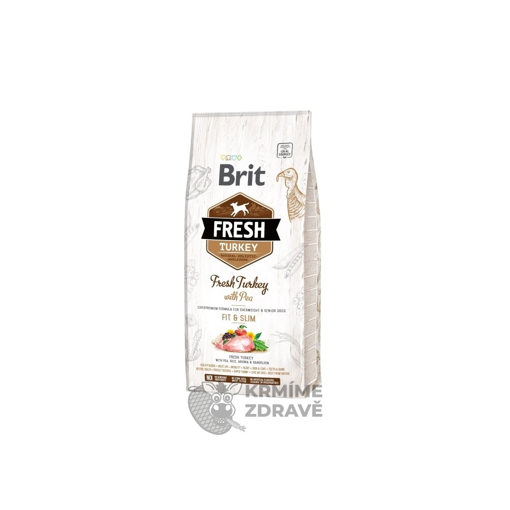 Brit Fresh Dog Turkey & Pea Light Fit & Slim 12kg