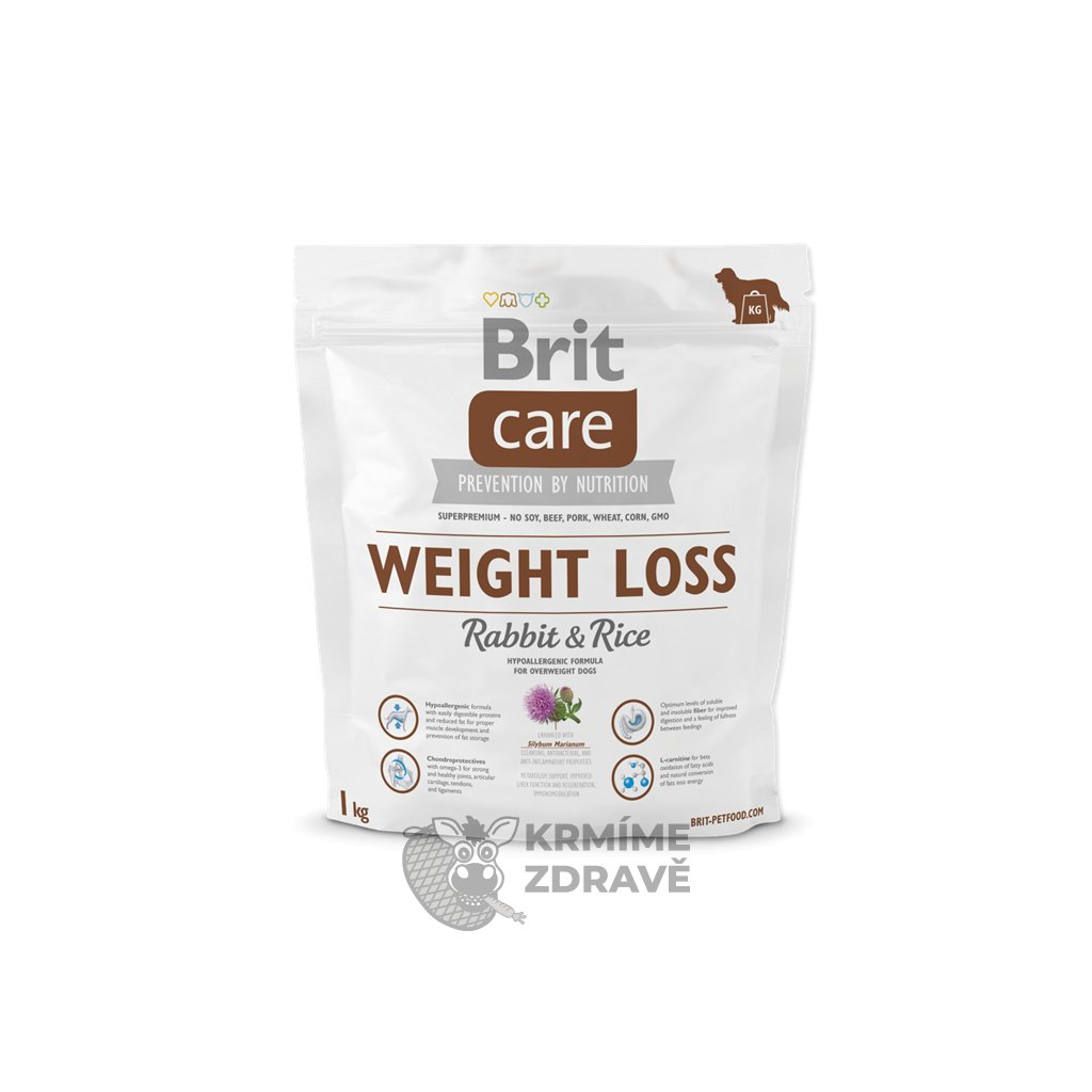 0205994 brit care dog weight loss rabbit rice 1kg 600