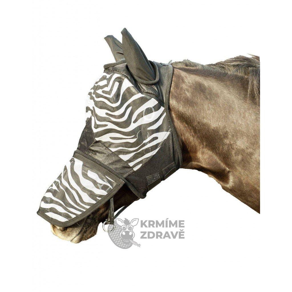 Ochranná maska proti mouchám HKM Zebra