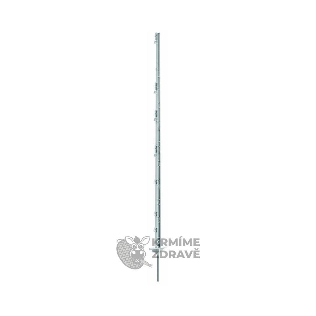 Tyč ohradníková umělohmotná 156cm/jednoduchý hrot/2 nášlapky/