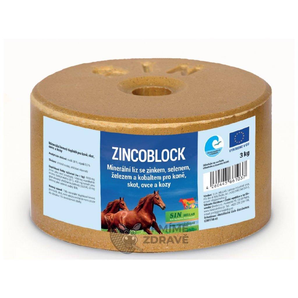 Zincoblock, minerální liz se zinkem, selenem, železem a kobaltem