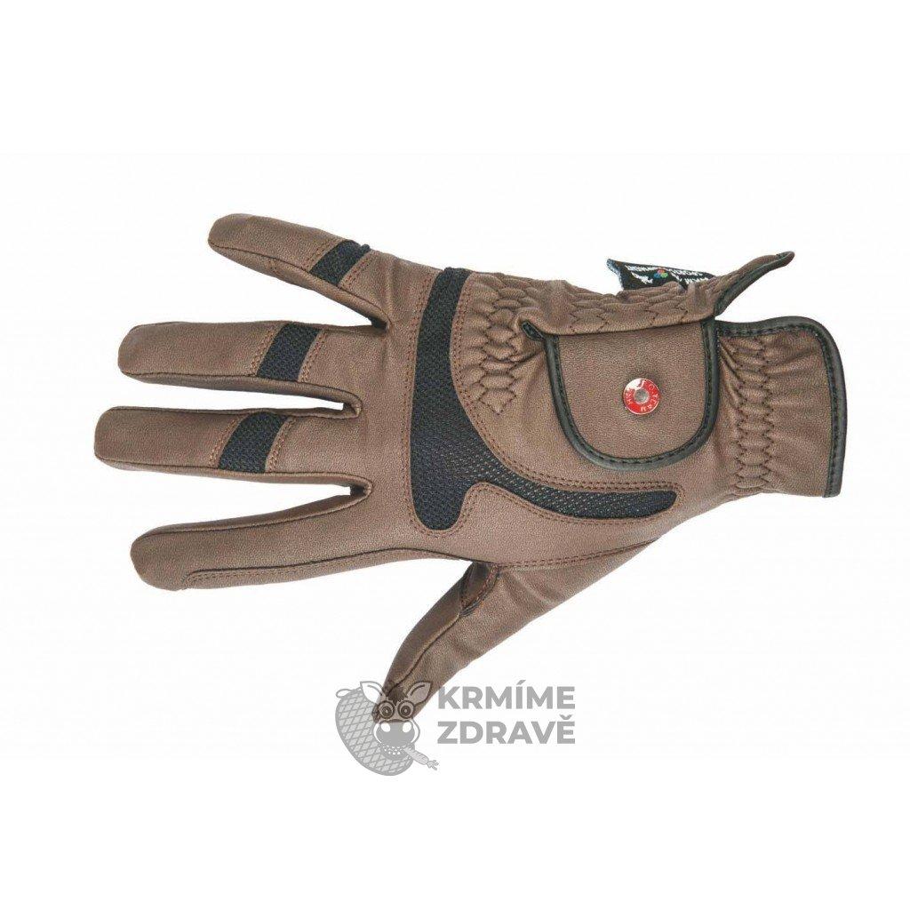 Jezdecké rukavice Professional Air Mesh Hnědé