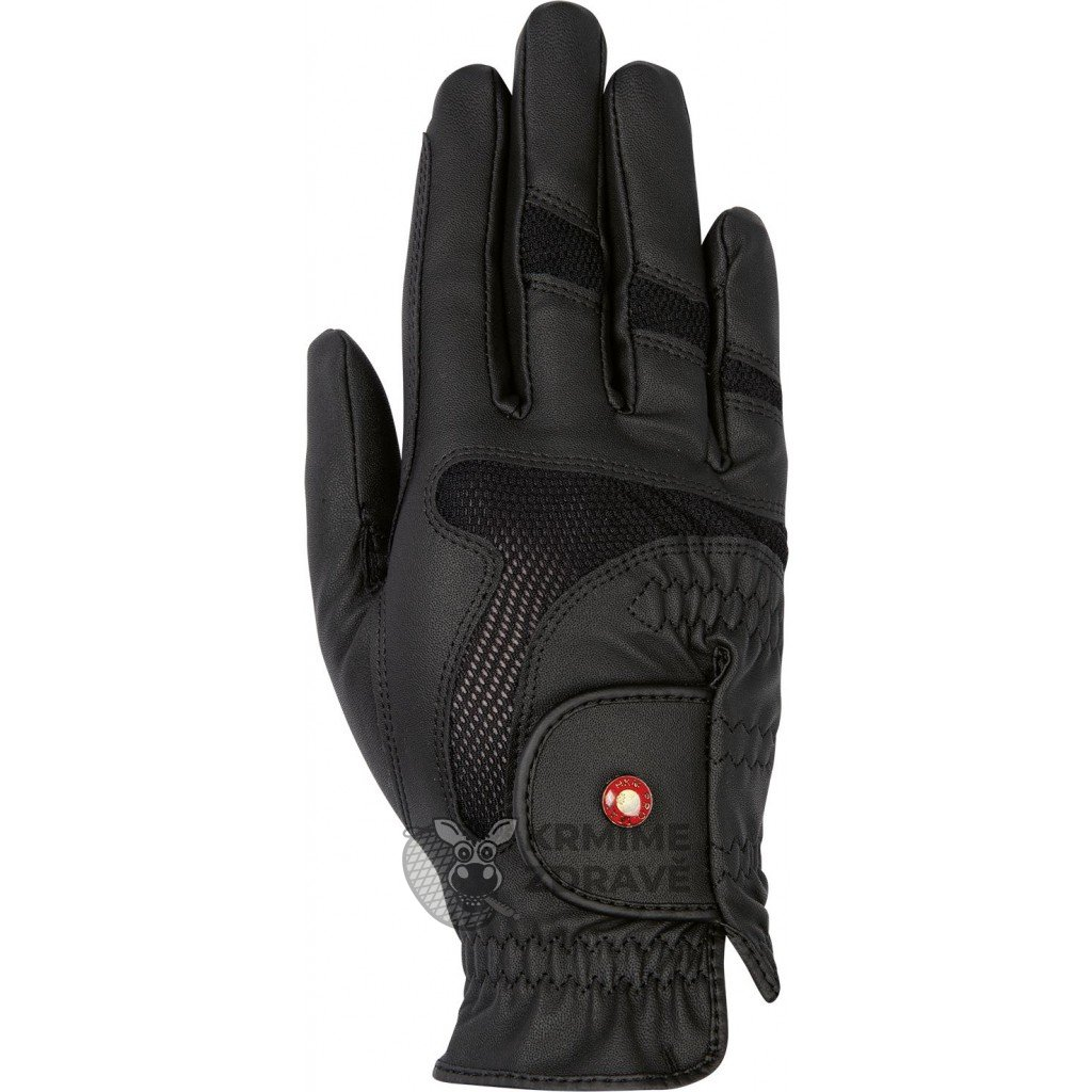 Jezdecké rukavice Professional Air Mesh- černé