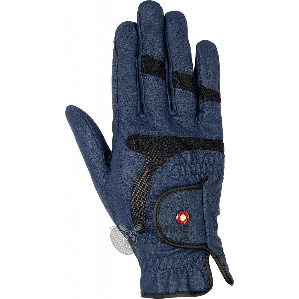 Jezdecké rukavice Professional Air Mesh - modré