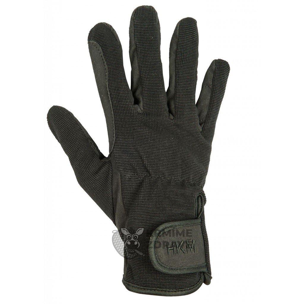 Jezdecké rukavice Special z kvalitní umělé kůže -černé