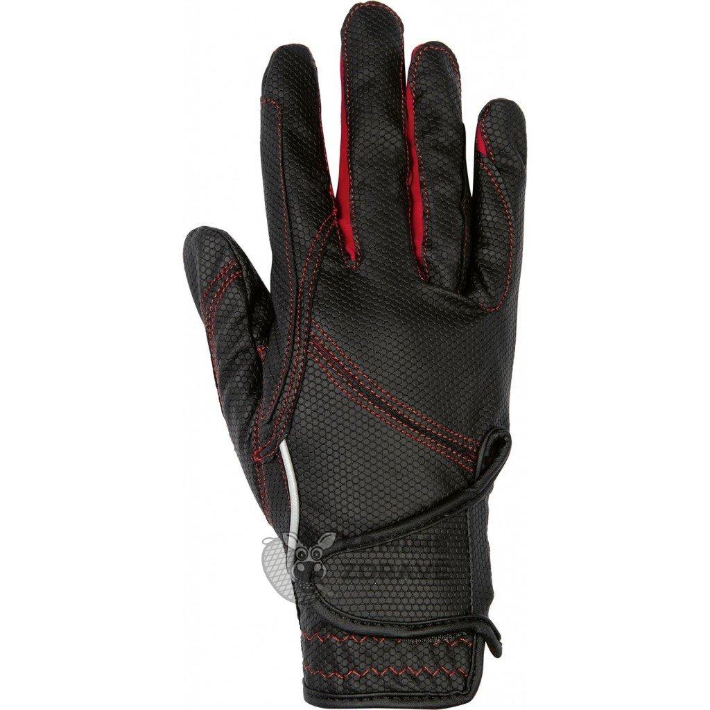 Jezdecké rukavice Fashion-Červené