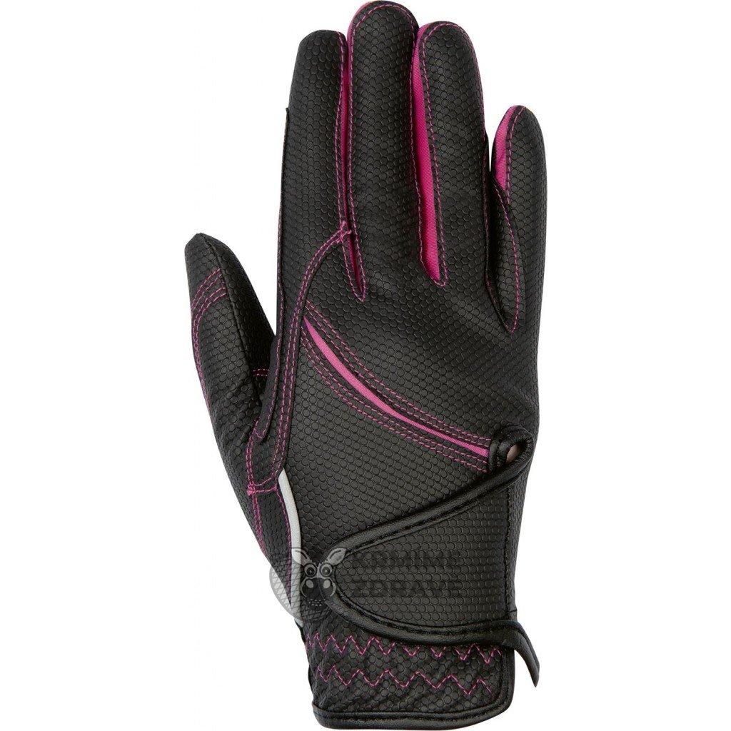 Jezdecké rukavice Fashion-Růžové