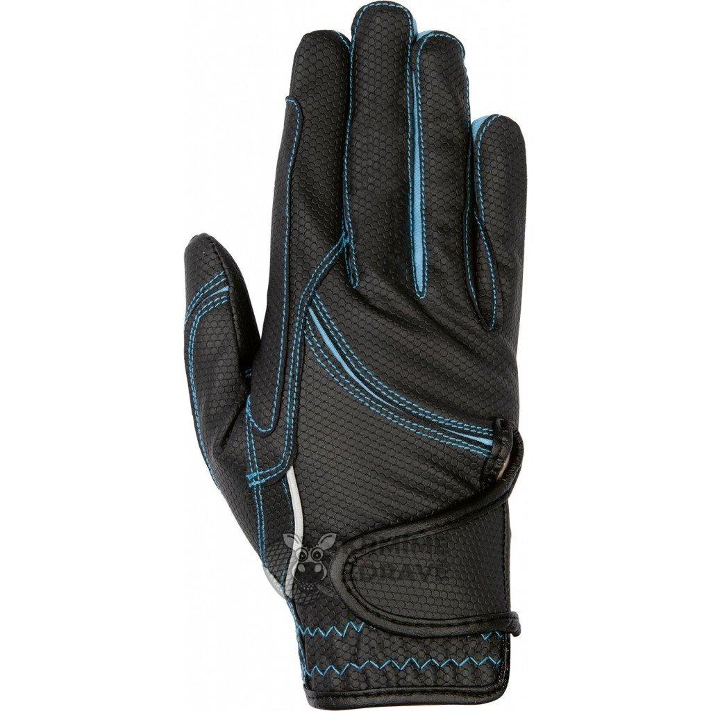 Jezdecké rukavice Fashion-Modré