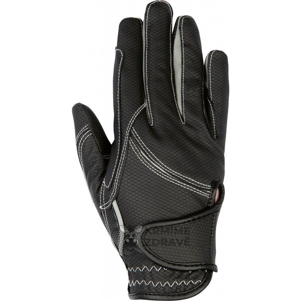 Jezdecké rukavice Fashion-Šedé