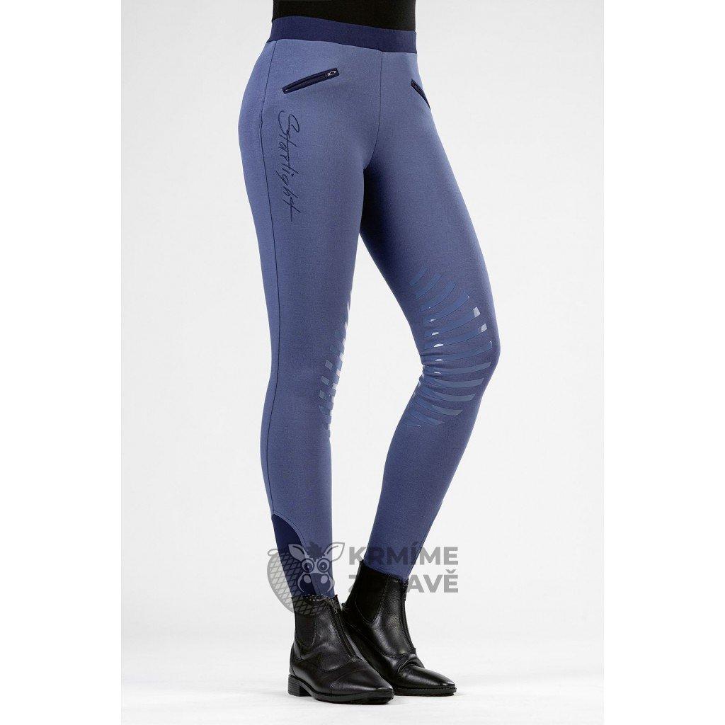 Jezdecké legíny Starlight- Jeansová modrá