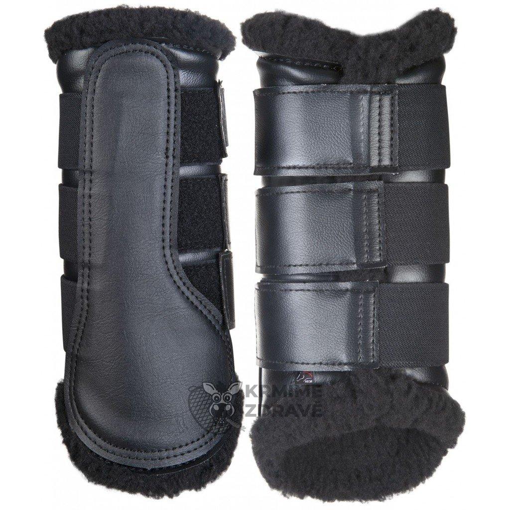 Kamaše Comfort-černé s černým beránkem