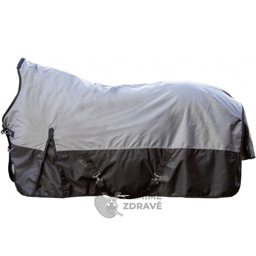 Nepromokavá výběhová deka s fleecem Columbus-šedá