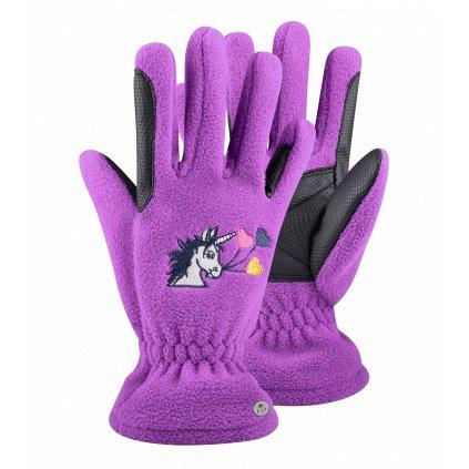 Dětské jezdecké rukavice LUCKY CARLA