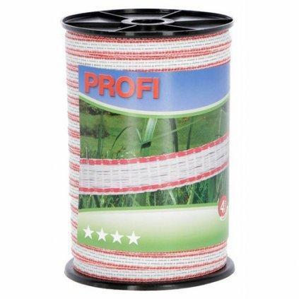 Vodič páska PROFI, 12mm, 200m, bílá-červená