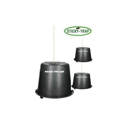 Černý kyblík Sticky Trap - balení 3 ks