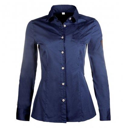 Jezdecká košile Moena- tm. modrá