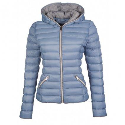 Prošívaná bunda Ella-kouřově modrá