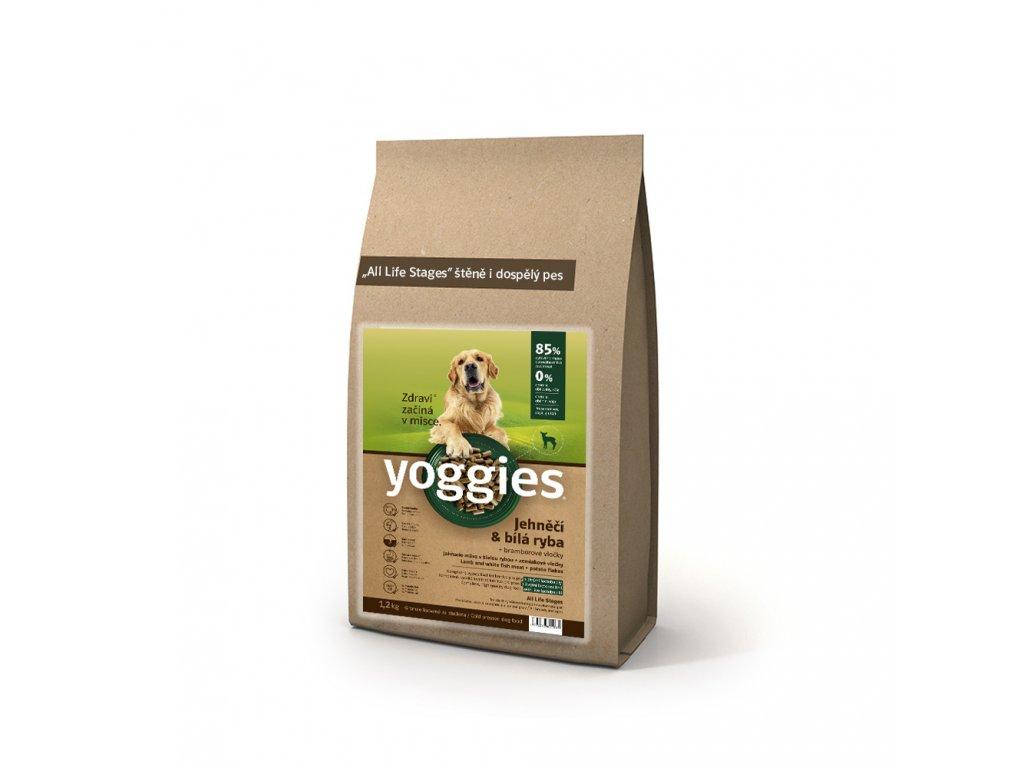Yoggies granule jehněčí+ bílá ryba 1,2kg