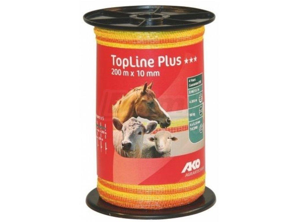 Páska Top line Plus, 200x20, žluto oranžová