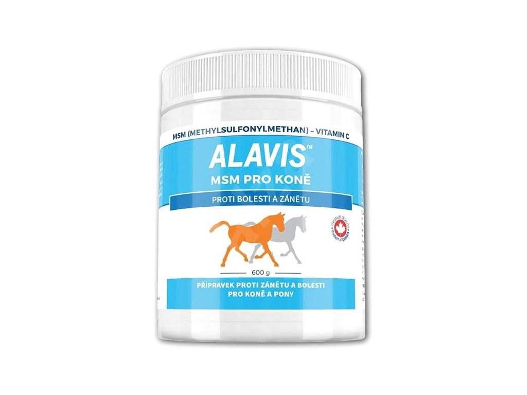 Alavis MSM + vitamin C 600g pro koně