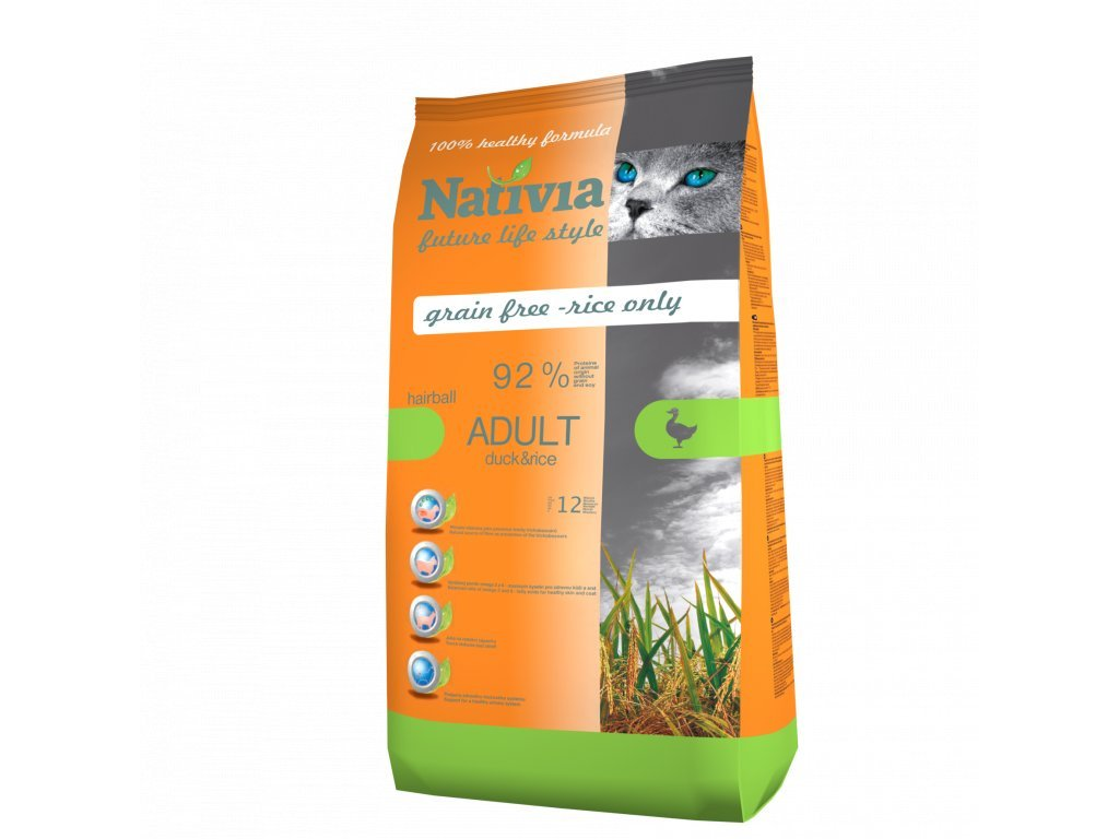 Nativia Cat Duck hairball 1,5 kg