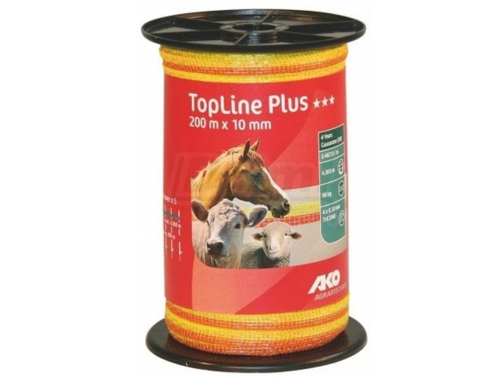 Páska Top line Plus, 20010,žluto oranžová