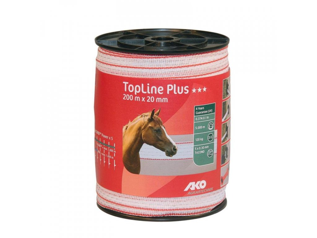 Páska Top line Plus, 20020, bílo červená