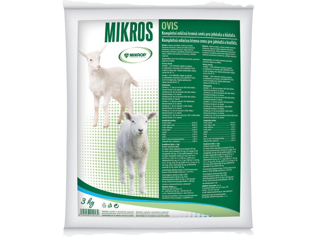 Mikrop OVIS, mléčná náhražka 3kg