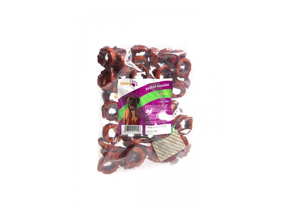Hanny kroužek z tresky obalený kachním masem 500g